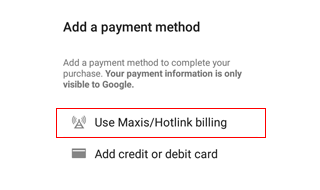 Google Play payment with no credit/debit card required | Hotlink